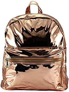 This Little Backpack is so Shiny You can Probably Check Your Lipgloss in it. Cute and Practical! H 30 cm x L 33cm x D 10cm