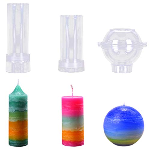ETbotu DIY Handmade Candle Cylinder-Shape Wax Mold Scented Candle Making PC Tube Special for Wax Molding
