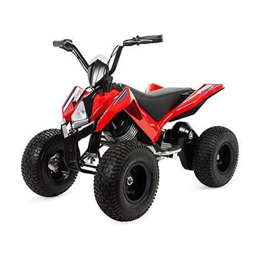 INJUSA - Quad X-Treme Hunter de 24V Rojo con Ruedas Hinchables Cambio de Marchas y Freno de Disco Recomendado para niños +6 Años