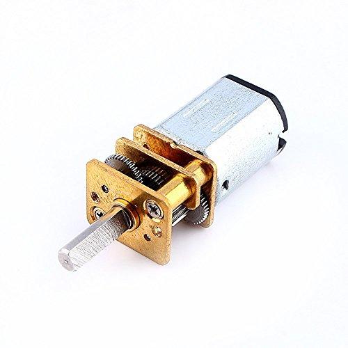 Yosoo Mini DC 6 / 12V Kurzer Welle Drehmoment Getriebemotor 50/200 / 300 RPM mit Metall Getriebe Ersatz N20 für RC-Car, Roboter Modell, DIY Engine Spielzeug (6V 50RPM)