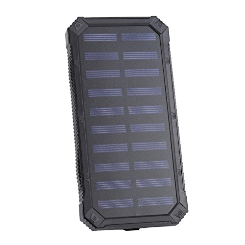 Semme externe batterijlader, zonne-energie, draagbaar, 20.000 mAh, met 6 ledlampjes default 02