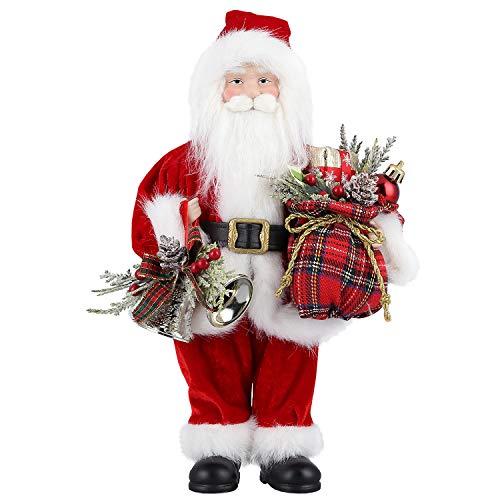 """Uten Weihnachtsmann 30,5cm /12"""" Santa Claus Figuren animierte Weihnachtsstern stehend Santa Figur mit Geschenk und Weihnachtsbaum für Tischplatte Figur Ornamente Weihnachtsfeier"""