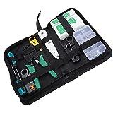Kit de herramientas de mantenimiento de reparación de cables de red RJ45 RJ11 Tester de cable LAN Stripper delincuente