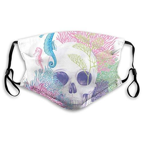 Halloween schedel Skeleton hoofd met koraal rif dood Aquarium piraat Wildlife beeld filteren gezicht Cover