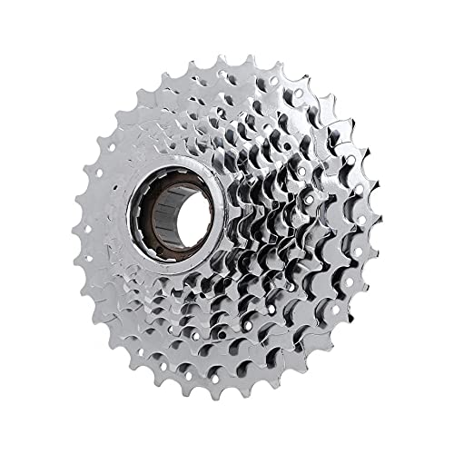 Volante trasero para bicicleta de montaña, piñón cromado para bicicleta de 6-10 velocidades, pieza de repuesto para rueda libre trasera, accesorios para bicicleta con buje roscado(9 velocidades)
