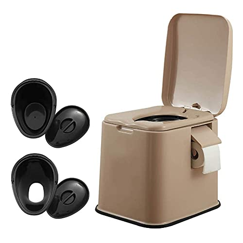 MADHEHAO Portable Toilet Portable Camping Toilet 12L Travel Toilet with Inner Bucket Handle Paper Holder Outdoor Caravan Picnic Fishing Mobile ToiletBA