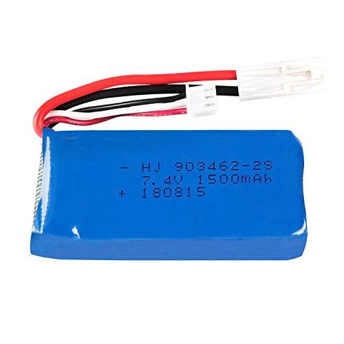 Dilezhiwanjuwu E7.4V 1500mAh / 2800MAH batería Lipo/Cargador USB para FT009 RC Barco lancha rápida 12428 batería Lipo 2S 7,4 V 1500mah 2S-7.4v 1500MAH 1PC