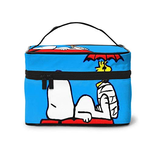 Bolsa de maquillaje, bolsa de cosméticos portátil de viaje Snoopy, bolsa grande de...
