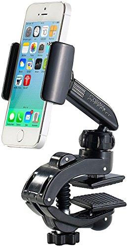 Callstel Handy Halterung Klemme: Kfz- Smartphone-Halterung mit Schraubklemme und Kugelgelenk (Handyhalterung Auto Klemmen)
