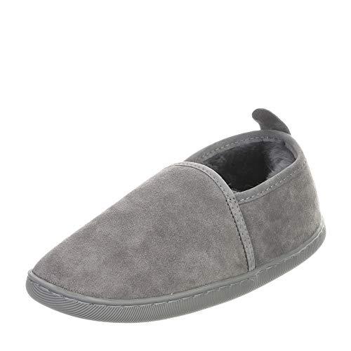 Hollert Lammfell Hausschuhe - Hubert Fellschuhe Lederschuhe Damen Herren Schuhe Größe EUR 40, Farbe Grau