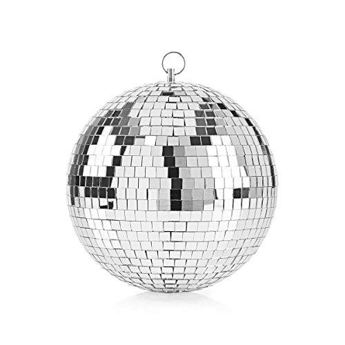 TronicXL 20cm Premium Glitzer Spiegelkugel Spiegelball Spiegel Kugel Ball Disco Beleuchtung