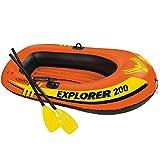 Kayak Inflable Kayak Deportivo Bote Al Aire Libre Cómodo Kayak Ocio Barco Plegable 1-2 Persona Barco Inflable Marina Deportes Pesca Aventura Grueso Plástico PVC 185 * 94 * 41 Cm Naranja
