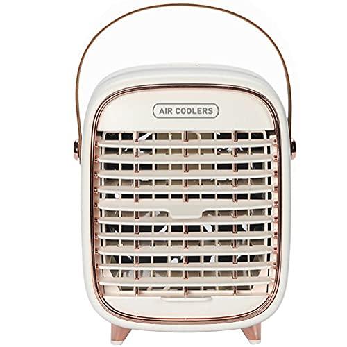Condizionatore Ventilatore 2000mah Addebitabile Portatile Air Cooler Scrivania Ventilatore 3 Costi Mini Evaporativo Del Dispositivo Di Raffreddamento Con La Maniglia Per Home Office Bianco