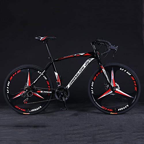 YTNP Road Bike Men,21 Speed Mountain Bike Bicycle,Adults Trek Bike,Anti-Slip Bicycles Endurance Carbon Steel Bike, with Suspension Fork/Disc Brake