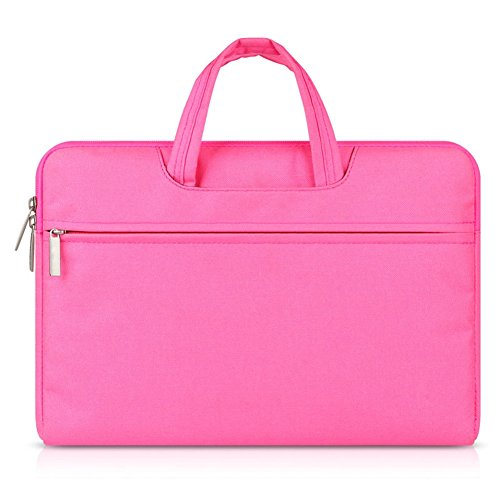 G7Explorer Water-resistant Laptop Sleeve Case Bag Portable Computer handbag For Apple Macbook Air Pro and other Notebook 15.6 inches Pink