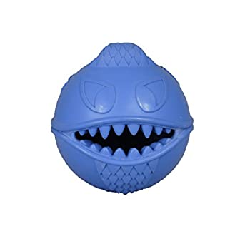 Jolly Pets Monster Ball Bouncing Dog Toy/Treat Holder 2.5 Inches Blue