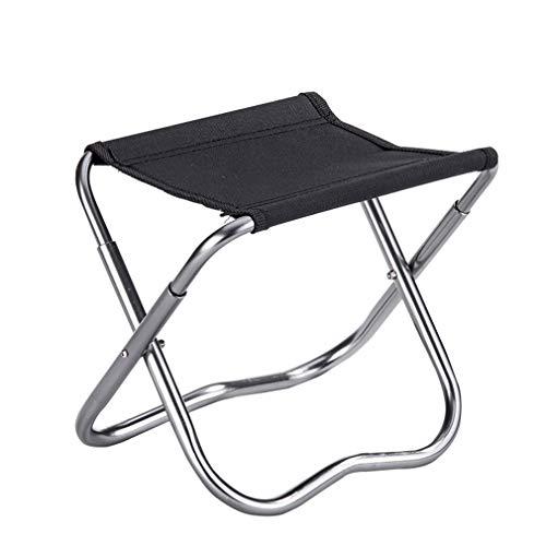 AGLZWY Chaises Pliantes Polyvalent Métal Tissu Oxford Épaissir Imperméable Portable Tabouret Extérieur, 2 Couleurs (Color : Black, Size : 23.5X17X20CM)