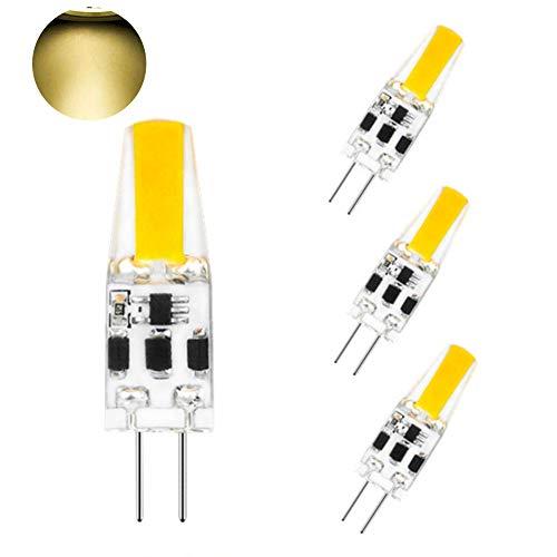 CVERY G4 LED Birnen 2W, Dimmbare Halogen Glühbirne Kein Flimmern DC12-24V COB Lampe für Büromöbel Beleuchtung 4er Pack