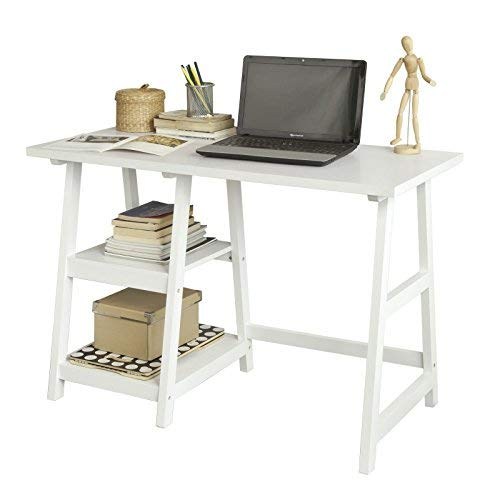 SoBuy® FWT16-W, White Home Office Table Desk Workstation...