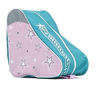 SFR Skates SFR Star Skate Bag Bolsa para Patines Patinaje Unisex Adulto, Pink/Green, Talla Única