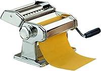 maury's sfogliatrice inox macchina per la pasta fresca all'uovo per fettuccine tagliolini funzionamento manuale a manovella larghezza 9 tagli in acciaio e rullo in alluminio (larghezza 150 mm)
