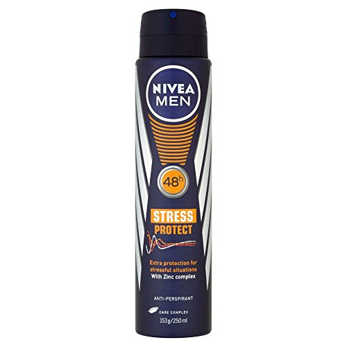 NIVEA MEN Stress Protect Aerosol Antiperspirant Deodorant Spray, 250 ml