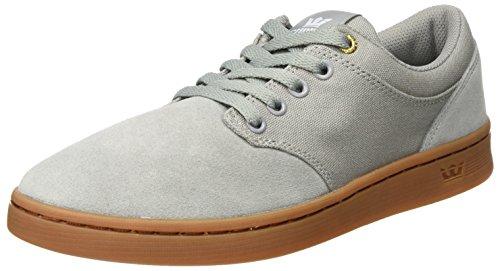 Supra Supra Herren Chino Court Sneaker, Grau (Lt. Grey-Gum), 44 EU