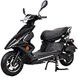 X-PRO Bali Moped Scooter Street Scooter Gas Moped 150cc Adult Scooter Bike with 10' Aluminum Wheels! (Black)