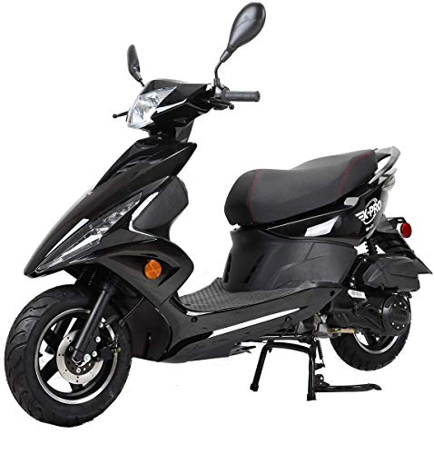 """X-PRO Bali Moped Scooter Street Scooter Gas Moped 150cc Adult Scooter Bike with 10"""" Aluminum Wheels! (Black)"""