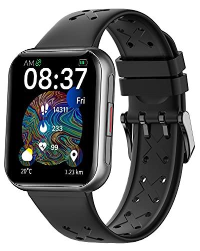 TOWOND Reloj Inteligente, Reloj con Pantalla Táctil para Hombres y Mujeres, Pulsera de Actividad Inteligente con Monitor de Frecuencia Cardíaca, Monitor de Sueño, Reloj Impermeable IP68 Android e iOS