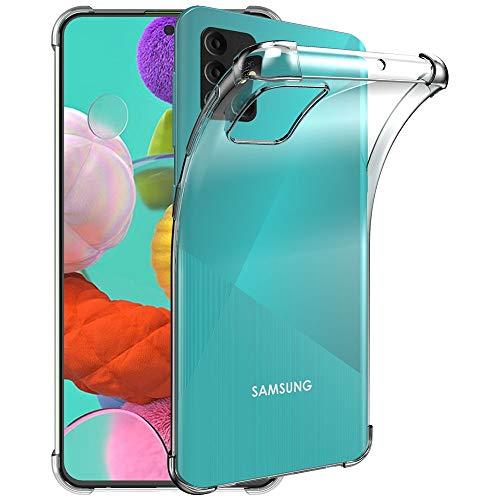 ebestStar - kompatibel mit Samsung Galaxy A71 Hülle SM-A715F Premium Flex Silikongel Handyhülle, Klar TPU Schutzhülle, verstärkten Rändern & Ecken, Transparent [A71: 163.6 x 76 x 7.7mm, 6.7'']