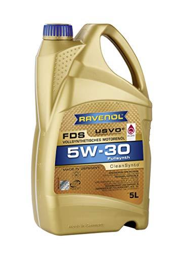 RAVENOL FDS SAE 5W-30 / 5W30 Vollsynthetisches Motoröl, ACEA A5/B5 (5 Liter)
