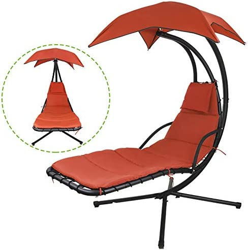 Flex HQ Outdoor Hanging Selling rankings Chaise Lounger Swi Chair Max 88% OFF Stand Arc Porch