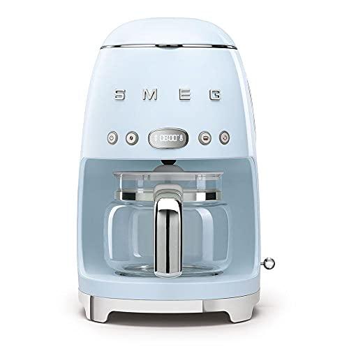 Smeg DCF02PBEU - Macchina da caffè con filtro programmabile, 10 tazze, 1050 W, colore: Azzurro