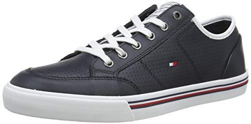 Tommy Hilfiger Herren CORE Corporate Leather Sneaker, Blau (Desert Sky Dw5), 44 EU