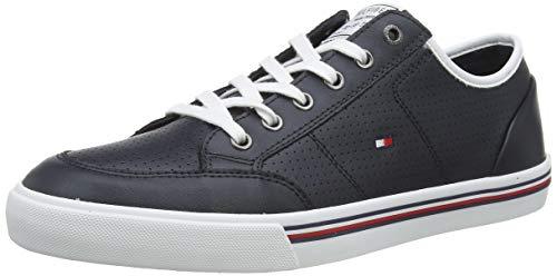 Tommy Hilfiger Herren CORE Corporate Leather Sneaker, Blau (Desert Sky Dw5), 45 EU
