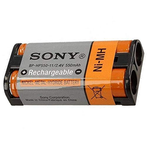 Genuine Sony Rechargeable Battery BP-HP550-11 for Sony MDR-RF970RK, RF970R, RF925RK, RF925R, RF912RK, RF4000K, IF245RK, RF860RK, RF855RK, RF850RK, RF840RK, RF811RK, RF810RK Headphones