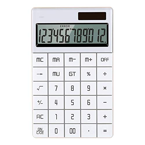 Calculator Groot LCD-scherm 12-cijferige Desktop Calculator Zonne-/batterij Dual aangedreven voor Business Finance School Examen Multifunctionele Functie Calculator