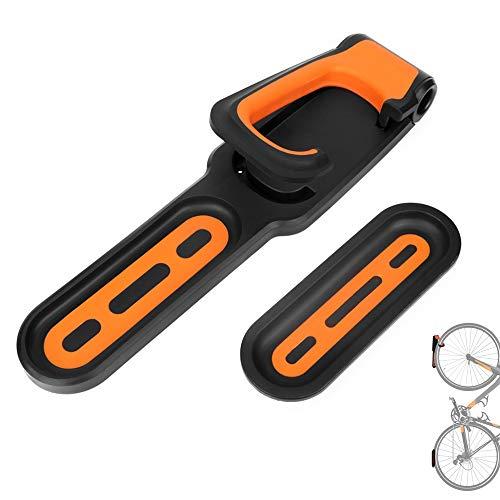 JOJYO Wandhalterung Fahrradhalter, Bike Rack-Wand Befestigter Vertikal Fahrradträger der Wand befestigter Platzsparende (Orange)