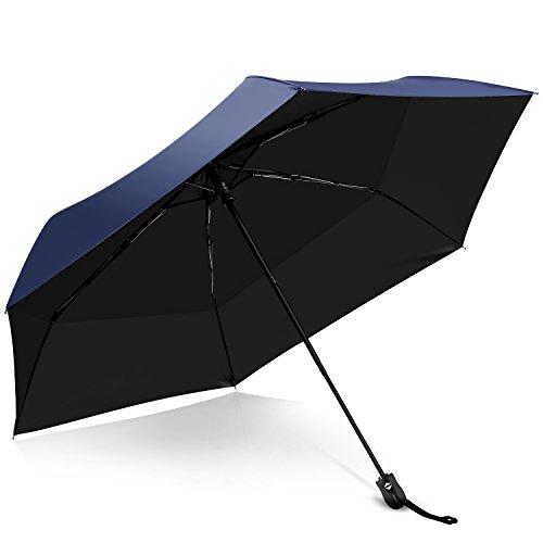 折りたたみ傘 超軽量 日傘 晴雨兼用 折り畳み傘 ワンタッチ自動開閉 UVカット 遮光 折り畳み傘 紫外線遮断 耐風撥水 おしゃれ 折りたたみ傘 丈夫 6本骨 95cm 210T高強度日傘 メンズ レディース 収納ポーチ付き(ブルー)