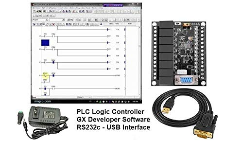 Professional PLC Developer and Training Starter Kit, Programmable Ladder Logic Controller, Software & Power Supply