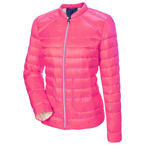 MILESTONE Meta damesjack gewatteerde jas roze roze kraag getailleerd licht 100% polyamide