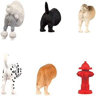 Hoovy Adorable Dog Butt Refrigerator Door Magnets   Cute & Funny Puppy Fridge Decorative Magnets For Photos, Notes & Grocery List   Sturdy & Nontoxic Vinyl   Assorted Dog-In-Fridge Magnets   6-Pack