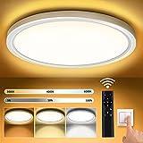 Plafon LED Techo Redondo Lámpara de Techo Moderna Regulable Ø30CM 3000K-6000K...
