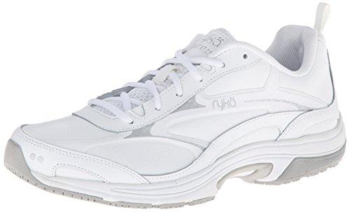 RYKA Women's Intent XT 2 SR Trail Running Shoe,White/Chrome Silver,7 W US