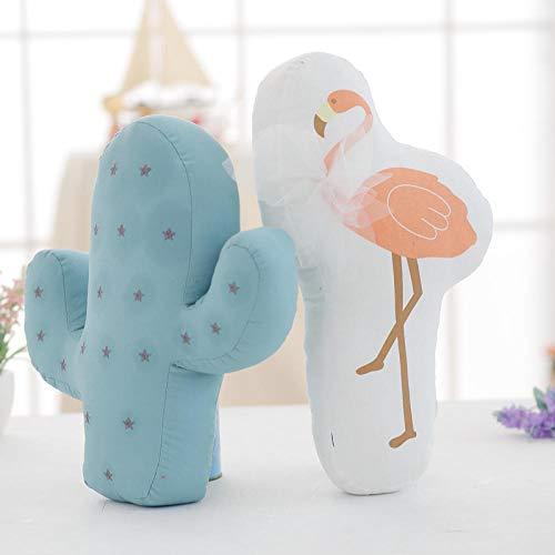 JJFU sierkussen vorm kussen hoofdkussen flamingo cactus-kussen kussen - eenvoudig boek-venster uitgangsdecoratiekussen @ A