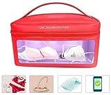 UV-Desinfektionstasche tragbar, UV-Desinfektionspaket Sterilisator Box USB-Desinfektion für Maske Handys Elektronik Schmuck Babyflasche Unterwäsche Spielzeug, Jumbo-Größenkapazität