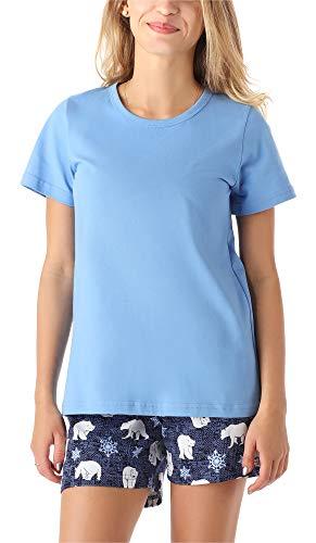 Merry Style Mädchen Jugend Schlafanzug MS10-265(Blau Bär, 164)