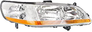Headlight Lens and Housing Compatible with 1998-2000 Honda Accord Coupe/Sedan Passenger Side