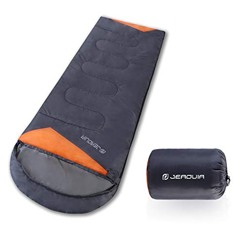 Camping Sleeping Bag Lightweight Waterproof - 3 Season Outdoor & Indoor Sleeping Bags for Adults & Kids - Compact Sleep Bag for Backpacking Hiking with Compression Bag